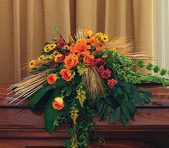 Autumn Faith Casket Spray.